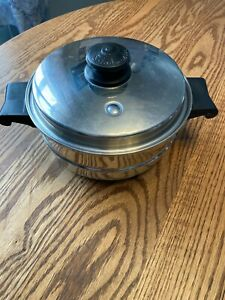 """Saladmaster Stainless Steel Double Boiler  8"""" Insert Pan Pot with Lid"""