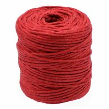50M Red Jute Twine Roll Rope Cord Hemp String for Art Craft & Decoration