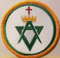 Freemason Symbol Embroidered Iron-On Patch Masonry Emblem Mason Version I