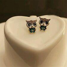 #1129 Fashion Style Owl Rhinestone Cute Vintage Ear small Stud Earrings