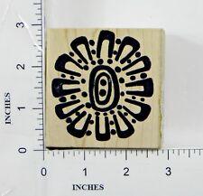 Wood Block Rubber Stamp: Magenta Jumbo Flower