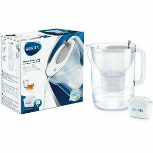 BRITA Style XL Maxtra+ Plus 3.6L Water Filter Fridge Jug + 1 Cartridge - Grey