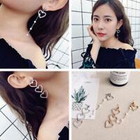 koreanische pearl lange lappen schmuck herz ohrringe crystal mit ohr - hengst