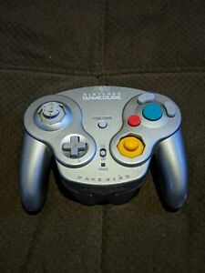 Authentic Official OEM Nintendo GameCube Wavebird Controller Silver NGC Works