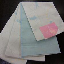 JAPANESE KIMONO OBI HANHABA-OBI CAT BLUE NEW MADE IN JAPAN