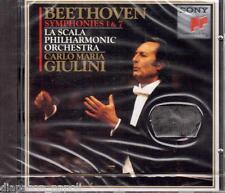 Beethoven: Sinfonie N. 1 & 7 / Carlo Maria Giulini, La Scala - CD