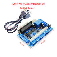 5 Axis MACH3 CNC Interface Breakout Board For Stepper Motor Driver CNC Mill
