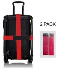 """Luggage Straps - 2""""x 78"""", Fits Variety of Luggage- 2 Pack -RED"""
