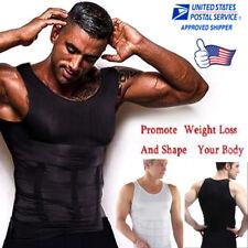 Hot Mens Slimming Shirt Body Shaper Vest Compression Tank Top Corset Weight Loss