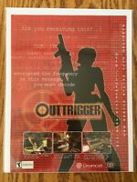 Outtrigger Dreamcast 2000 Vintage Video Game Poster Ad Art Print Rare HTF