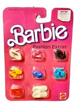 Vintage 1984 BARBIE FASHION EXTRAS #9121 8 Pairs Shoes New Doll Heels Assorted