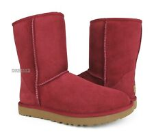UGG Classic Short II Redwood Suede Fur Boots Womens Size 8 ~NIB~