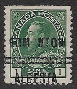 Canada Precancel stamp -Edmonton 1-104, UNLISTED Variety CP-1-1 (O and T missing