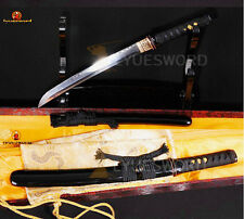 BATTLE READY JAPANESE SAMURAI TANTO SWORD T10 CLAY TEMPERED FULL TANG BLADE