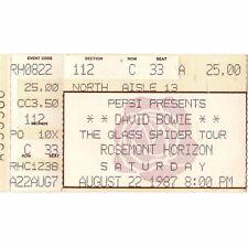 David Bowie & Duran Duran Concert Ticket Stub Chicago Il 8/22/87 Rosemont Rare