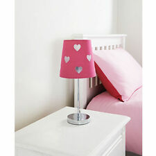 Hot Pink Children's Kids Cut Out Heart Shape Table Lamp