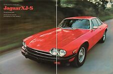 1976 Great 2 Page Magazine Pic British Leyland Jaguar XJ-S The Cat Comes Back.