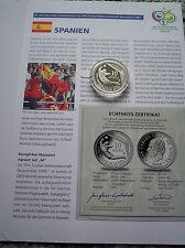 Spanien, FIFA Fußball WM 2006 in Deutschland, Silbermünze, PP