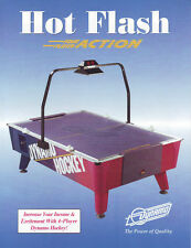 Dynamo Hot Flash 4 Player Air Hockey Arcade Game Original Sales Flyer Brochure