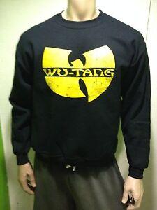 Wu-Tang Logo Sweatshirt CrewNeck Sweater Men's Black/Yellow