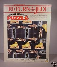 Vintage 1983 Star Wars ROTJ Tray Puzzle Matching Blocks Return of the Jedi toy