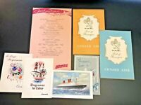 Vtg 1959 Qn Elizabeth Cunard Cruise line Memorabilia Ephemera