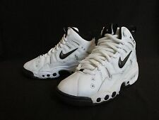 Nike Boys White Black Leather Basketball Shoes Youth, Mens 6.5M Wo's 8 M EU 39