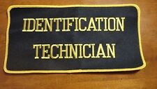 POLICE IDENTIFICATION TECHNICIAN  FINGER PRINT PHOTOGRAPH EXTRA LARGE 5X10 PATCH