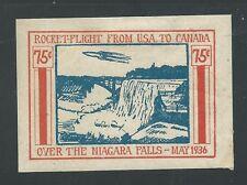 1936 USA-CANADA rocket mail stamp - NIAGARA FALLS - NY IPEX