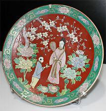 JAPON, Plat rond en porcelaine, (CFC japan)