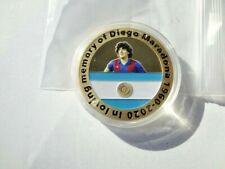 New 2021 Memorial Diego Maradona Commemorative Challenge Soccer Player Coin!!