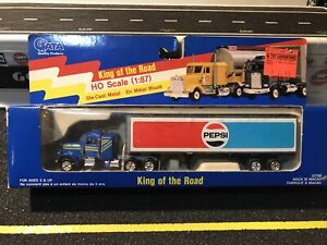 Vintage 1/87 Diecast King of the Road Pepsi Semi