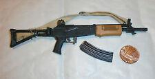 Hobbymaster idf moshe dayan, fusil d'assaut galil échelle 1/6th jouet accessoire
