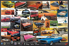 CLASSIC DODGE HISTORY 1970s Charger Challenger Advertising Collage Wall POSTER