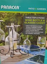 Table Top and Picnic Wine Bottle and Glass Caddy Space Saving
