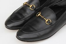 GUCCI Brixton Black Leather Horsebit Convertible Women's Loafers Sz 39 - US 9