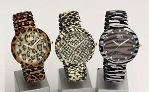 Eton Women Analogue Quartz Watch, expanding bracelet, Animal Print - 3117J