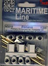 CMK Bismarck Primary Armament Messingrohre Metall Barrels 1:200 Trumpeter kit