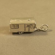 .925 Sterling Silver 3-D 50'5-60'S VINTAGE TRAVEL TRAILER Charm NEW 925 VH31
