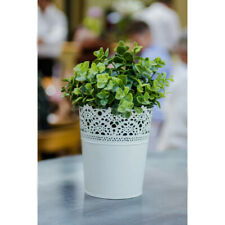 IKEA Sommar 2019 Plant Pot Flowers White Patterned 204.189.50  steel NEW