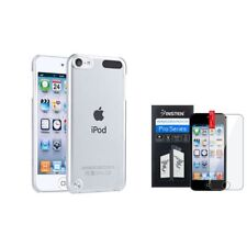 Color Clear Crystal Hard Back Case+Clear Protector For ipod touch 5 6 6th Gen