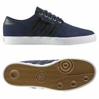 adidas ORIGINALS MEN'S SEELEY TRAINERS BLUE SKATEBOARDING SNEAKERS SHOES