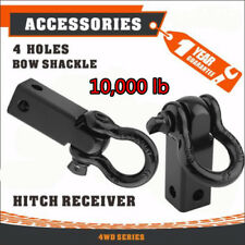 Tow Hook Receiver Hitch D Ring with 3/4 Inch Shackle 2 Inch Receiver 10000 Lbs E