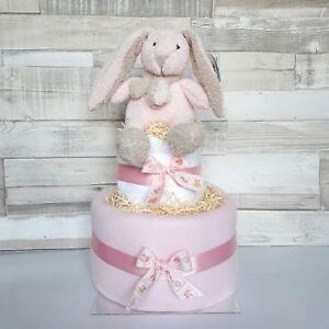 Nappy cake 2 tier baby girl baby shower gift