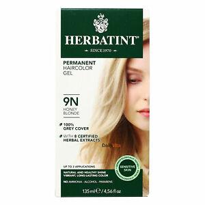 Herbatint Permanent Herbal Hair Color Gel, 9N Honey Blonde, 4.56 Ounce