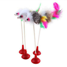 1pcs Funny Pet Cat Toys Feather False Mouse Bottom Sucker Cat Kitten Playing Toy