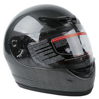 Carbon Fiber Black DOT Flip Up Full Face Motorcycle Street Helmet S M L XL XXL