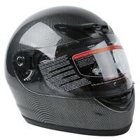 Carbon Fiber Black DOT Flip Up Full Face Motorcycle Street Helmet S M L XL XXL
