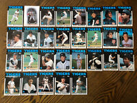 1986 DETROIT TIGERS Topps COMPLETE Baseball Team SET 29 Cards WHITAKER TRAMMELL!