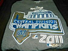 Milwaukee Brewers NLDS Central Division Champions 2011 by Majestic size L